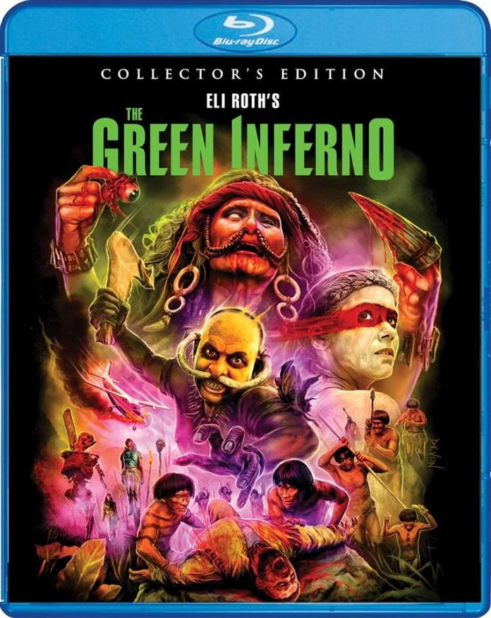 Scream Factory's The Green Inferno Collector's Edition cover art by Devon Whitehead.
