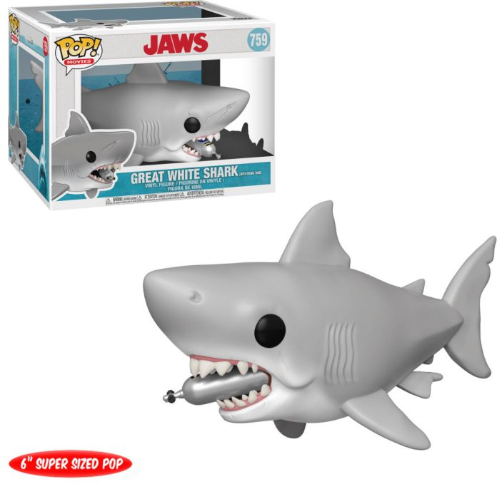 Funko Pop! Movies #759 Jaws Great White Shark (with Diving Tank)