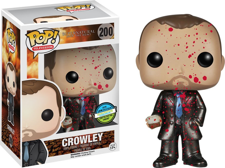 Funko Pop! Television #200 Supernatural Crowley [Bloody, Metallic]