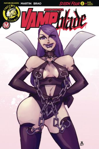 Action Lab Danger Zone Vampblade Season 4 Issue #2 cover E by Jason Martin.