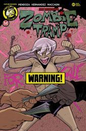 Action Lab Danger Zone's Zombie Tramp issue #61 risque cover B by Marco Maccagni.