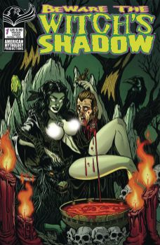American Mythology Productions' Beware the Witch's Shadow Issue #1 Risque Cover by Puis Calzada