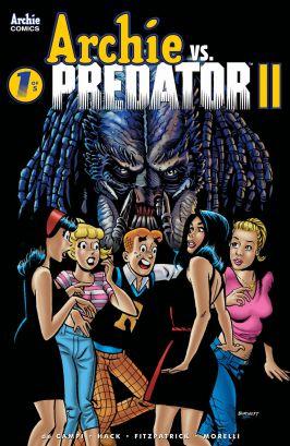 Archie Comics' Archie vs Predator II issue #1 cover B by Rick Burchett.