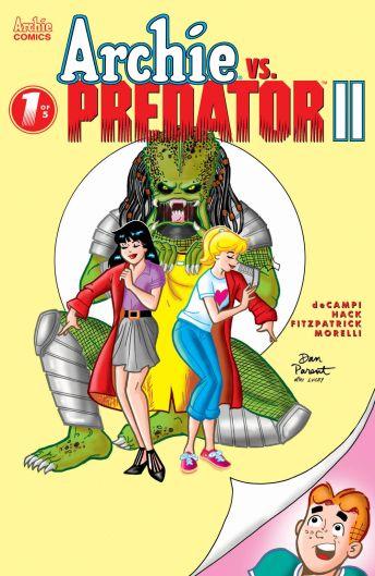 Archie Comics' Archie vs Predator II issue #1 cover E by Dan Parent.