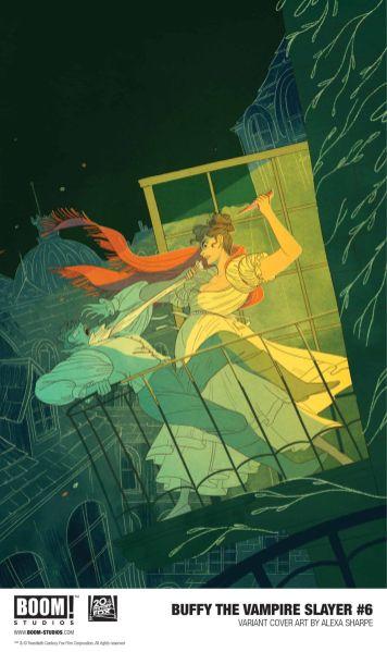 Boom! Studios Buffy the Vampire Slayer issue #6 cover C by Alexa Sharpe.