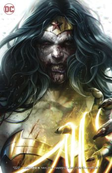 DC Comics' Dceased issue #3 cardstock variant cover by Francesco Mattina.