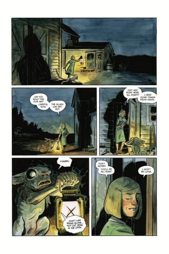 Dark Horse Comics' Harrow County library edition vol. 3 hardcover page 6.