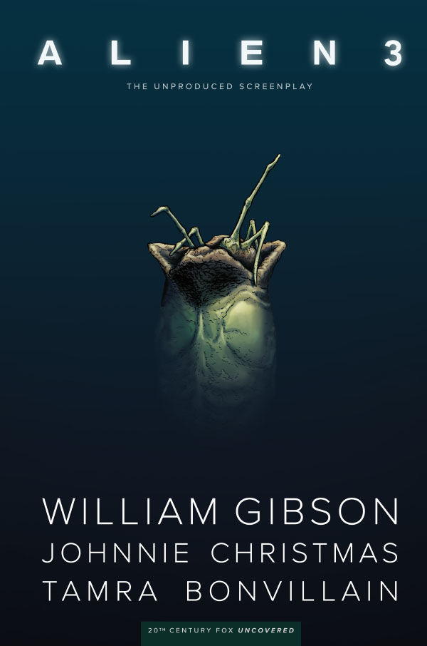 Dark Horse Comics' William Gibson's Alien 3 hardcover cover art by Johnnie Christmas.