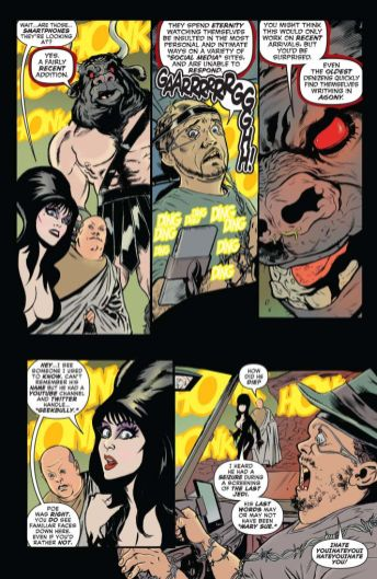 Dynamite Entertainment's Elvira: Mistress of the Dark issue #7 preview page 4.