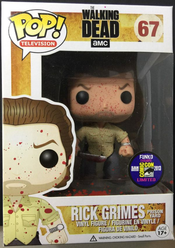 Funko Pop! Television #67 The Walking Dead Rick Grimes Prison Yard [Bloody]