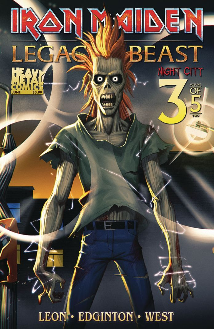 Heavy Metal's Iron Maiden: Legacy of the Beast Volume 2 - Night City Issue #3 Cover A