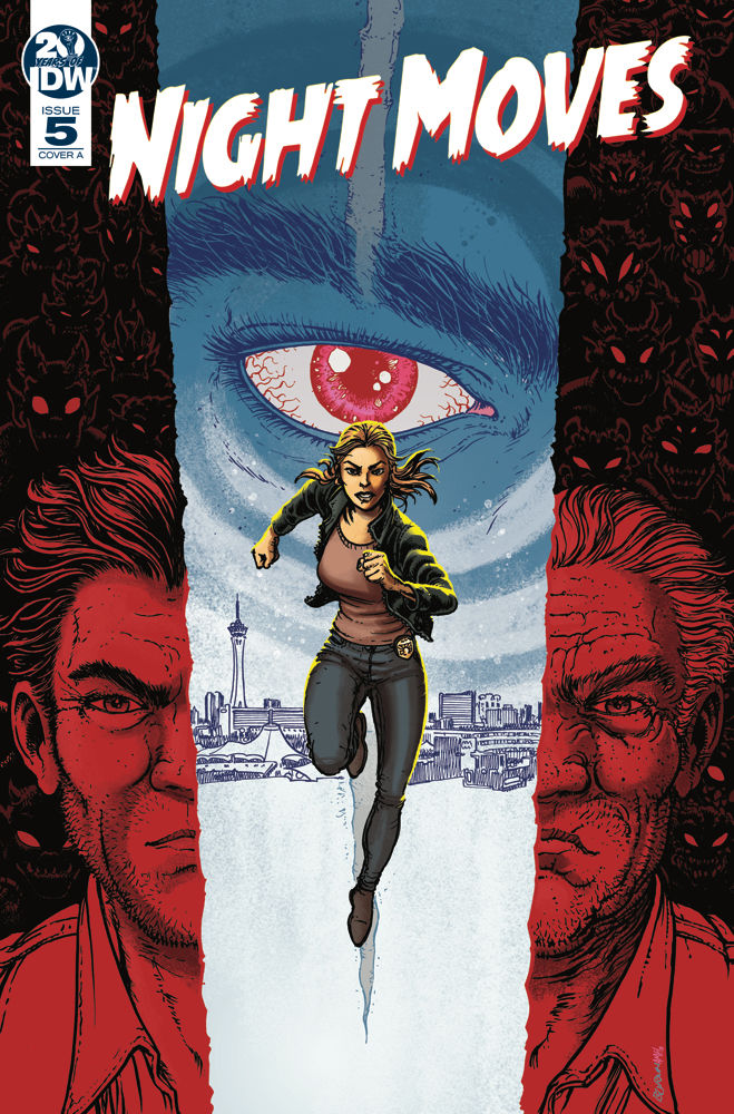 IDW Publishing's Night Moves issue #5 cover by Chris Burnham.