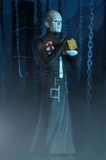 NECA Toys' Toony Terrors series 2 action figure Pinhead (angled right) with cutout backdrop.