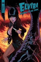 Dynamite Entertainment's Elvira: Mistress of the Dark Issue #8 Cover B by Craig Cermak