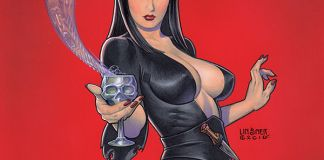 Dynamite Entertainment's Elvira: Mistress of the Dark Vol. 1 Cover by Michael Linsner