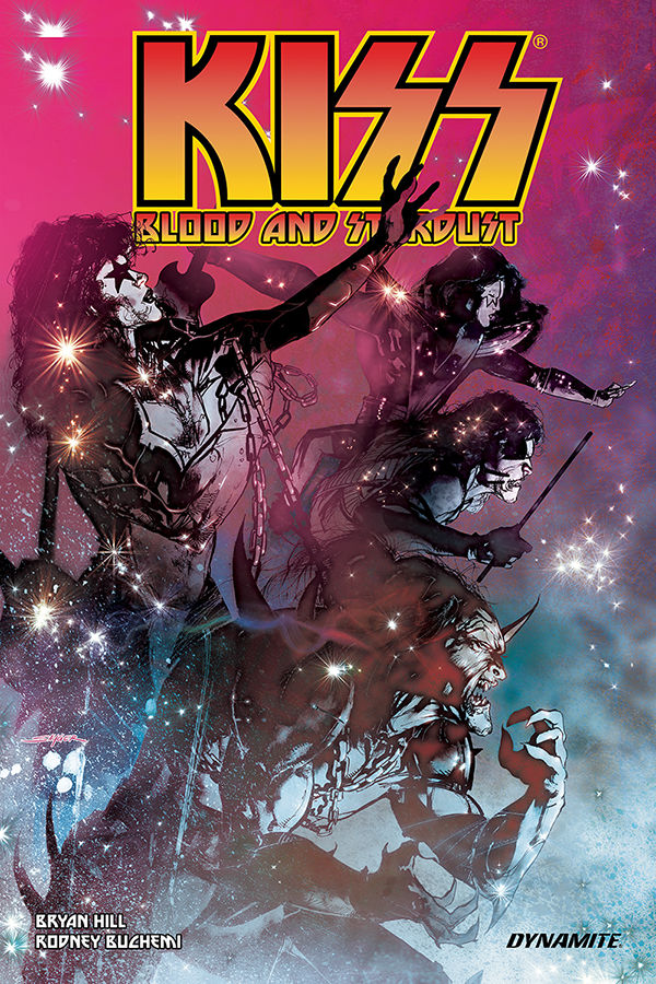 Dynamite Entertainment's KISS: Blood and Stardust Trade Paperback Cover by Stuart Sayger