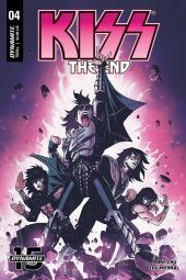 Dynamite Entertainment's KISS: The End Issue #4 Cover B by Reilly Brown