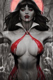 "Dynamite Entertainment's Vampirella Vol. 5 Issue #2 Cover A (Blood Moon, Virgin) by Stanley ""Artgerm"" Lau"