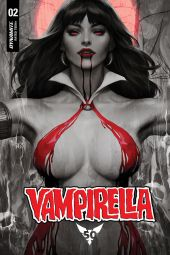 "Dynamite Entertainment's Vampirella Vol. 5 Issue #2 Cover A (Blood Moon) by Stanley ""Artgerm"" Lau"