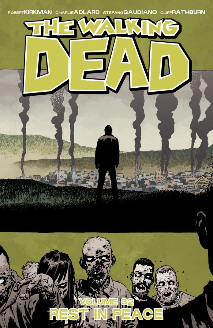 Image Comics & Skybound Entertainment's The Walking Dead, Vol. 32: Rest Peace Trade Paperback Cover by Charlie Adlard