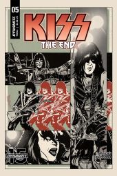 Dynamite Entertainment KISS: The End Issue #5 Cover B by Jorge Fornes