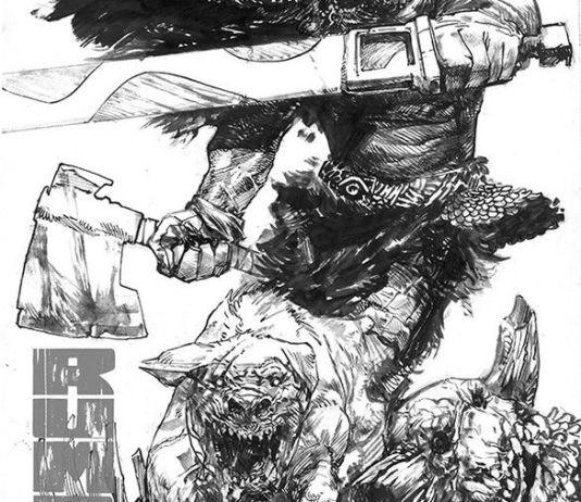 Image Comics Rumble Issue #16 Cover A (Black & White) by Gerardo Zaffino