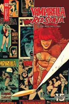 Dynamite Entertainment Vampirella/Red Sonja #2 Cover D by Leonardo Romero & Jordie Bellaire