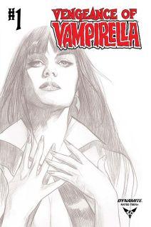 Dynamite Entertainment Vengeance of Vampirella Cover C (Black & White) by Ben Oliver