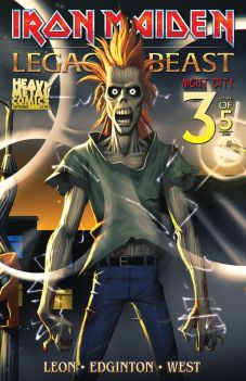 Heavy Metal Magazine Iron Maiden: Legacy of the Beast Vol. 2 - Night City #3 Cover A by Navigator Games