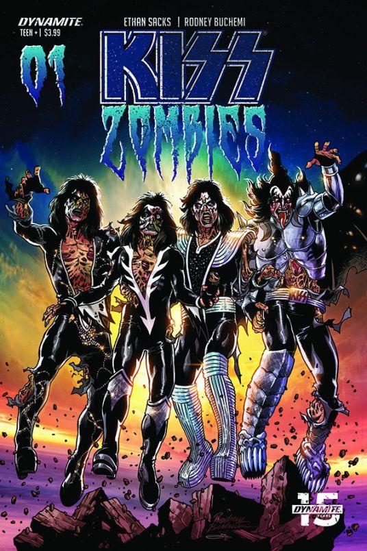 Dynamite Entertainment KISS Zombies Cover C by Rodney Buchemi