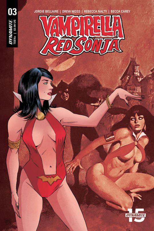 Dynamite Entertainment Vampirella/Red Sonja #3 Cover E by Drew Moss