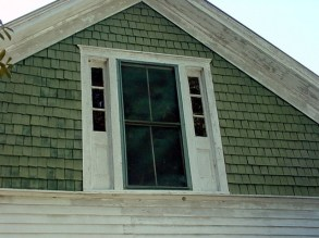 Distinctive New England Gable detail