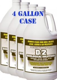 D/2 Biological Solution – 4 Gallon Case (Includes 4 one gallon size ...