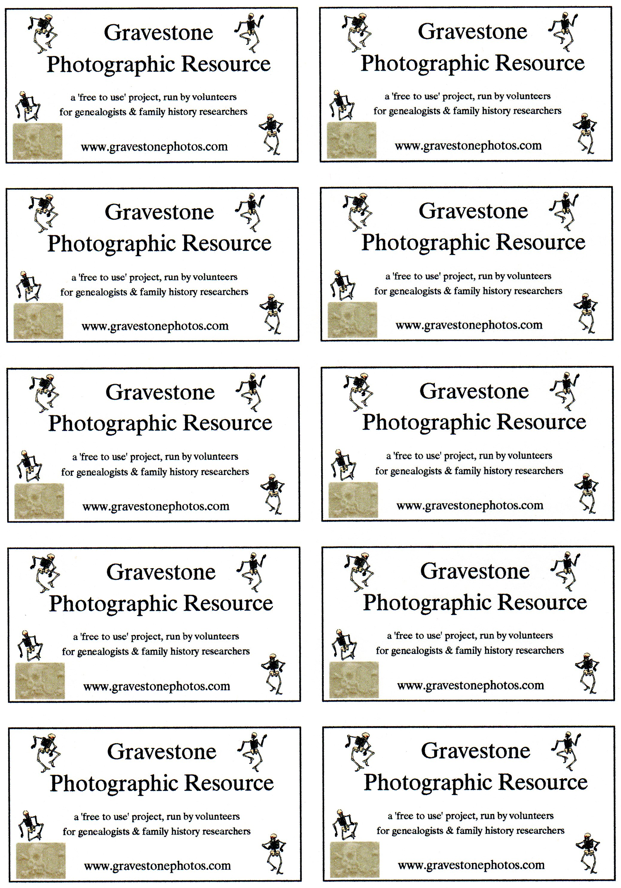 Gravestone Photographic Resource Project Downloads