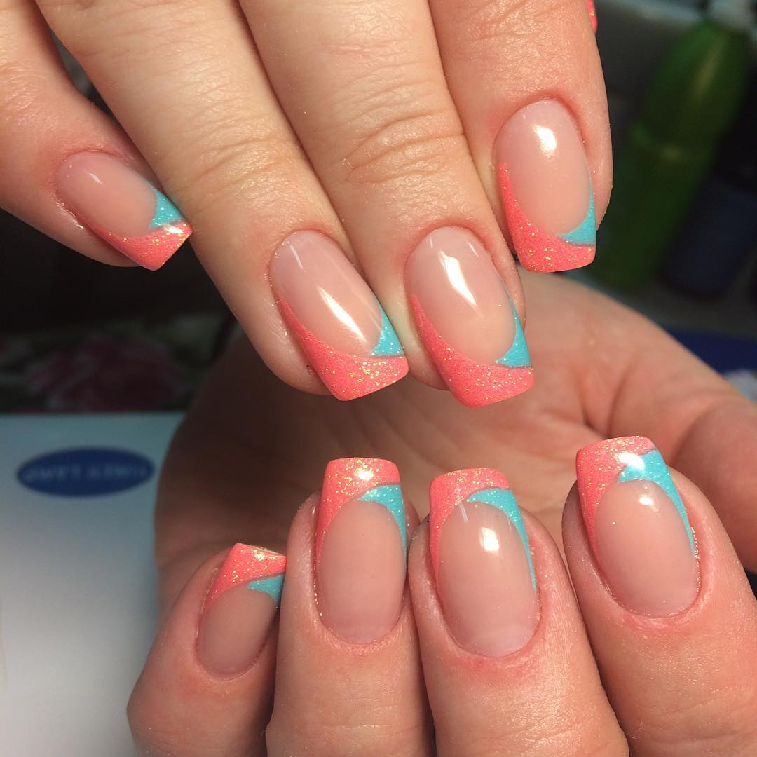 Summer French Manicure Nail Designs Confession Of Rose