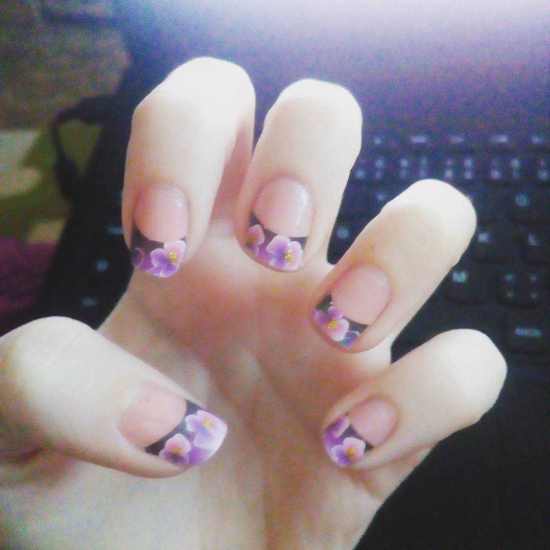 French Manicure Designs Short Nails Papillon Day Spa