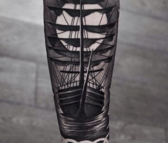 A Great Sailing Ship Tattoo That Makes For A Great Sleeve Design