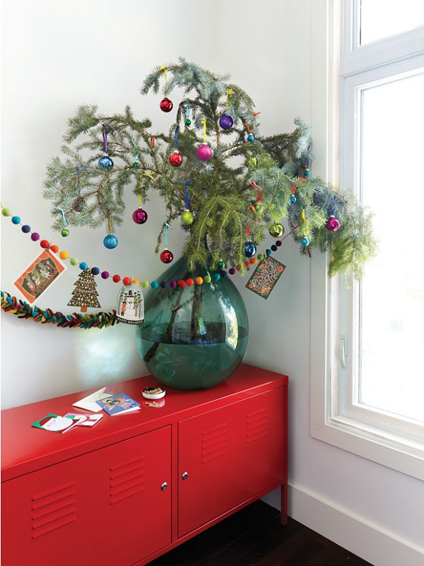 Small Artificial Christmas Trees Decorated