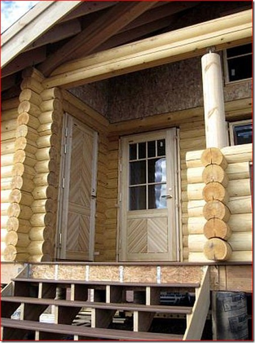 This is a great view showing the European doors.  Notice the hinges are on the exterior of the home.  These are tamper proof, and when a blowing wind is hitting the door, it will seat tighter into its seals.  Compare this with the North American door, which would be forced away from its frame. The doors also show the beautiful detail that comes with the stock door slabs. MarkWagner<>Gravitas Next month: Finishing up!