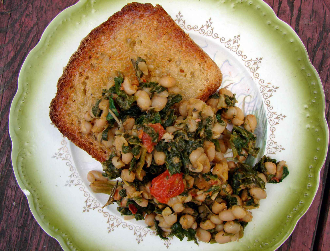 spinach-and-beans-on-toast