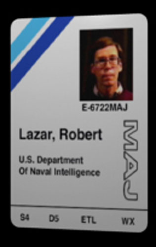 Bob Lazar's S4 Photo ID Badge