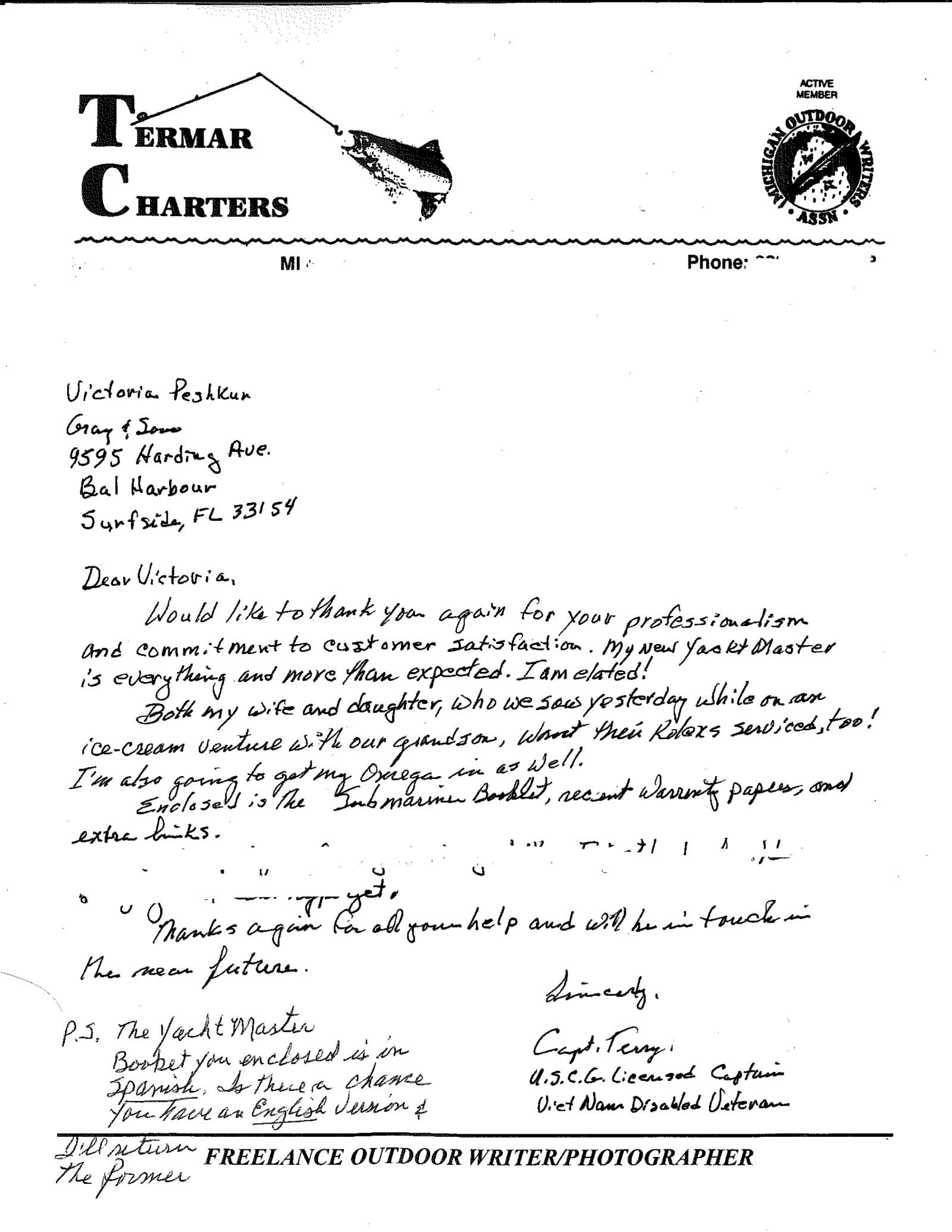 Marlee's email testimonial