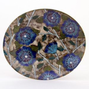 Blue Roses of Sharon Oval Platter