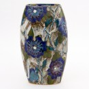 Blue Roses of Sharon Oval Vase