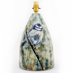Blue Tit Conical Lamp