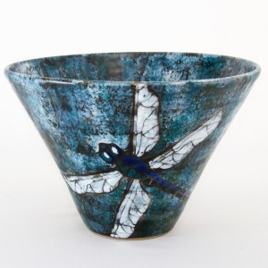 Dragonfly Cone Bowl