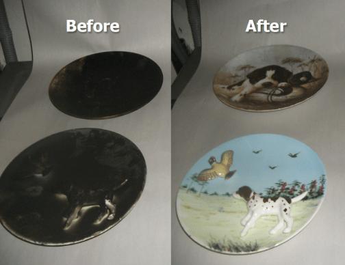 Smoke and Fire Damaged plates restored