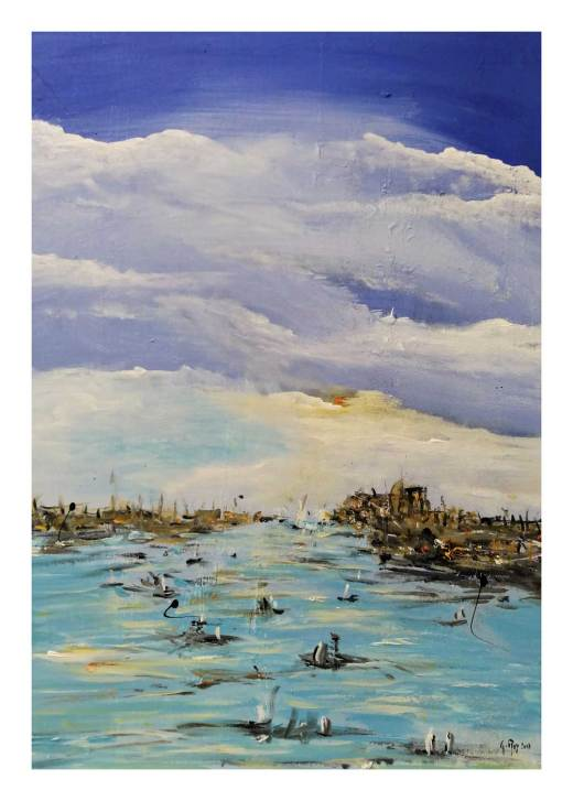 La regata - Impressioni - 2017 smalti su tela 70 x 50 (non disponibile)