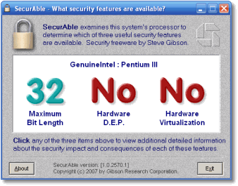 SecurAble showing no features for Hyper-V