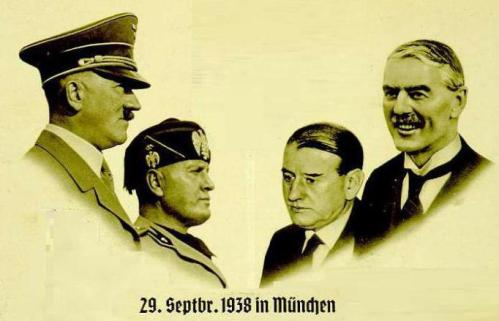 Великая страна СССР,Памятная открытка в честь Мюнхенского договора